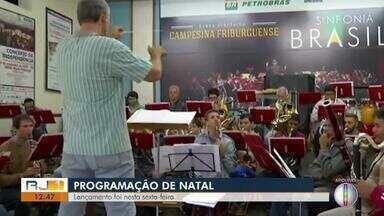 Nova Friburgo, RJ, lança programação de Natal - Assista a seguir.