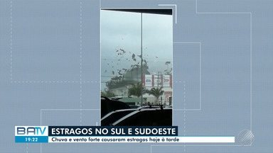 Destaques: vento forte provoca prejuízos para moradores da região sul e sudoeste da Bahia - Confira também outros destaques deste sábado (8).