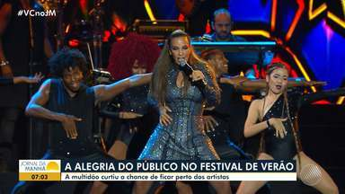 Festival de Verão: veja os melhores momentos da festa no domingo (9) - O dia reuniu atrações como Wesley Safadão e Ivete Sangalo.