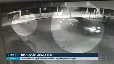 Motorista de aplicativo atropela passageiro e fuge - Caso ocorreu em Curitiba.