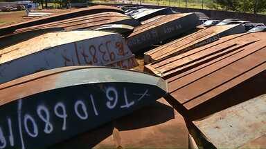 Receita Federal vai leiloar materiais de embarcações apreendidas na fronteira - Barcos eram utilizados por contrabandistas na fronteira e foram apreendidos pelos fiscais.