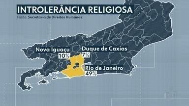 Aumentam os casos de intolerância religiosa no RJ - De janeiro a dezembro de 2018, foram registrados 103 casos de intolerância religiosa no estado. Um aumento de 51% em relação ao mesmo período de 2017.