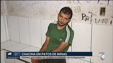Homem que confessou ter matado ex-mulher e ex-cunhado vai a julgamento em Patos de Minas - Crime ocorreu no dia 5 de outubro de 2017. Vítimas foram esfaqueadas pelo autor, que se entregou à polícia na época.