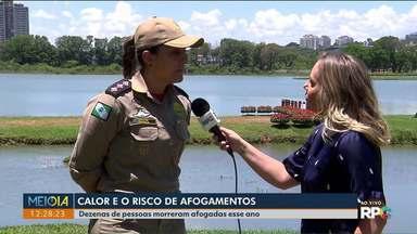 Corpo de Bombeiros alerta para o aumento do risco de afogamentos no calor - Dezenas de pessoas já morreram afogadas no Paraná este ano.