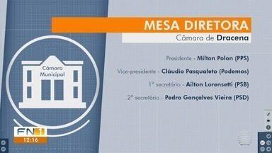 Câmara Municipal de Dracena elege Mesa Diretora para o próximo biênio - Vereador Milton Polon (PPS) vai assumir o comando do Poder Legislativo.