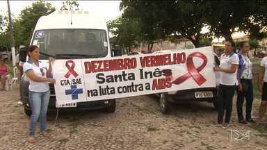 Atividades ligadas a campanha 'Dezembro Vermelho' são realizadas em Santa Inês - Testes rápidos de HIV foram oferecidos a população da cidade no mês dedicado à prevenção à Aids.