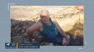 'Até Quando?': Vazamento de água abre buraco no Bairro Santo Antônio, em Capivari - Assista vídeo que telespectador gravou mostrando a situação.