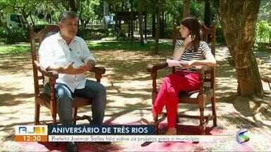 RJTV entrevista prefeito de Três Rios - parte I - No aniversário de 80 anos da cidade, Josimar Salles fala sobre problemas e soluções para o município.