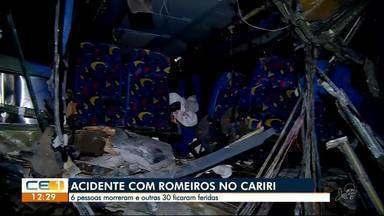 Acidente com romeiros em Campos Sales - Confira outras notícias no g1.globo/ce