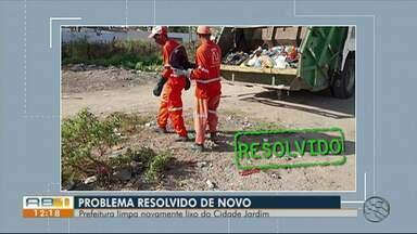 Problema de lixo ao ar livre é resolvido em Caruaru - Moradores do Cidade Jardim haviam reclamado do mini lixão no bairro.