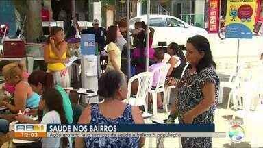TV Asa Branca realiza o 'Saúde nos Bairros' - Ação foi no bairro do Salgado em Caruaru.