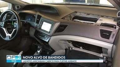 Bandidos arrombam carros para furtar airbag - O airbag só funciona no modelo de fábrica e não aceita adaptações em qualquer veículo. Por isso, tudo indica que esse é um crime de encomenda.