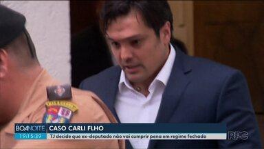 TJ decide que Carli Filho não vai cumprir pena em regime fechado - Ele foi condenado por matar dois jovens em um acidente de trânsito em 2009.