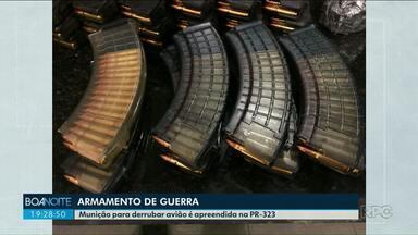 Polícia apreende mais de 4 mil munições de fuzil na região noroeste - A apreensão aconteceu nesta sexta-feira (14) em Iporã.