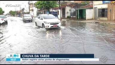 Belém tem chuva cinco vezes acima do esperado; vários pontos ficaram alagados - Áreas alagadas sofreram influência de canais.
