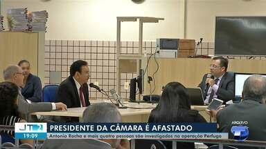 MPPA denuncia presidente da Câmara de Santarém e juiz determina afastamento do cargo - Afastamento é de 180 dias. Além de Antônio Rocha (MDB), mais quatro pessoas foram denunciadas por peculato, incluindo o diretor geral da Casa Legislativa.
