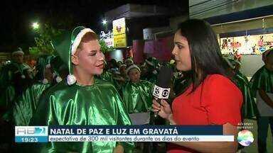 'Natal de Paz e Luz' inicia em Gravatá nesta sexta-feira (14) - Evento conta com diversas apresentações natalinas.