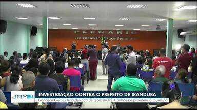 Câmara de vereadores em Iranduba analisa denúncias contra prefeito - Segundo processo, ele deixou de repassar mais de R$ 4 milhões à Previdência Municipal.