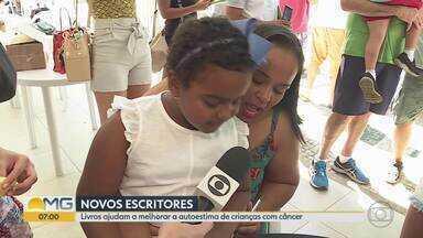 Crianças com câncer lançam livros em Belo Horizonte - Elas escreveram os livros durante o tratamento no Hospital da Baleia.
