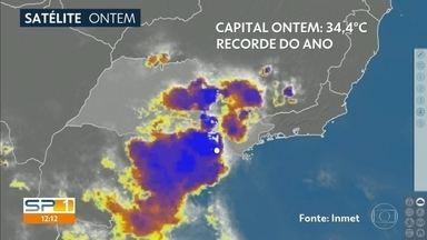 Tempestade severa atinge Caieiras e Perus - Calor e risco de chuva forte estão previstos até domingo, pelo menos.