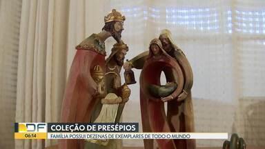 Há mais de 4 décadas, família mantém tradição de colecionar presépios - Família do Lago Norte possui dezenas de presépios. Os exemplares foram comprados no Brasil e no exterior.