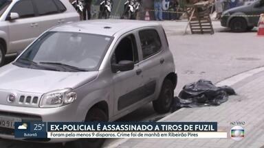 Ex-PM é executado a tiros de fuzil em Ribeirão Pires - Marcelo André Marina, conhecido na cidade como Marcelo Tchelão, exercia um cargo comissionado na Guarda Municipal de Ribeirão Pires.
