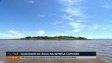 Qualidade da água na Represa Capivara está própria para banho, segundo o IAP - Boa notícia para os moradores e para quem vai para Primeiro de Maio.