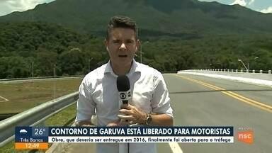 Contorno de Garuva é liberado para motoristas - Contorno de Garuva é liberado para motoristas.