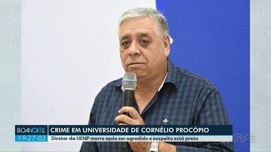 Diretor da UENP morre após ser agredido e suspeito está preso - O professor que confessou ter cometido o crime está preso.