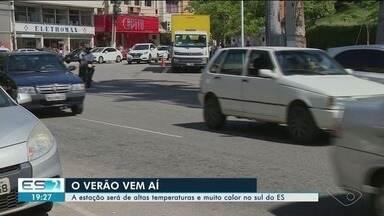 Verão será de temperaturas muito altas no Sul do ES - Calor já é sentido pelos moradores há algum tempo.