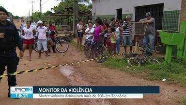Mortes violentas reduzem mais de 10% em RO - Levantamento é realizado pelo monitor da violência, no g1.