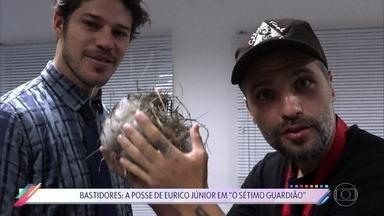 Bastidores: A posse de Eurico Jr. em 'O Sétimo Guardião' - José Loreto mostra tudo o que rolou por trás das câmeras