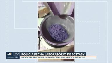 Ao investigar consumo de ecstasy no DF, polícia encontra laboratório em Santa Catarina - As máquinas apreendidas produziam quatro mil comprimidos por hora. O traficante, preso na operação, revendia as drogas para todo o Brasil, inclusive o DF.
