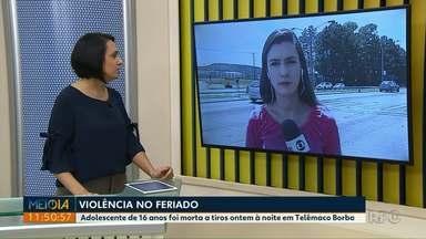 Adolescente de 16 anos é morta a tiros no Natal em Telêmaco Borba - O crime foi na noite do dia 25.