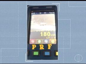 PRF flagra 282 veículos transitando em excesso de velocidade na BR-040 - Fiscalização foi na na manhã dessa terça.