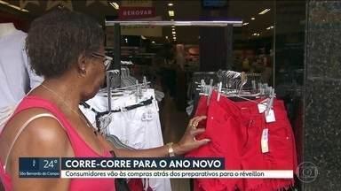 Vendas em shoppings cresce 5,5% no Natal - Consumidores estão se preparando para o réveillon