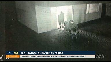 Câmeras flagram roubo em residência - Alguns cuidados podem evitar roubos durante as férias.