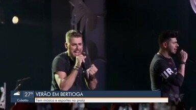 Bertioga se prepara para receber os shows de verão - Cidade tem programação de shows até o fim de janeiro.