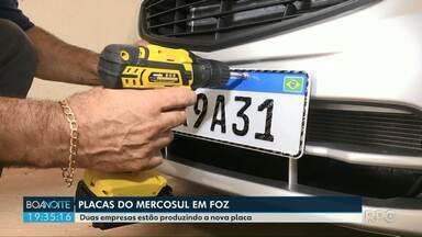 Mais uma empresa começa a fazer placas do Mercosul em Foz - A demora foi causada pela falta de liberação do Denatran