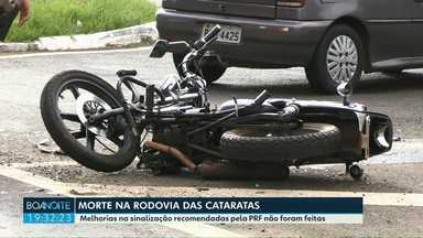 Mulher morre em rodovia que a PRF já havia cobrado melhorias - O acidente foi hoje de manhã na Avenida das Cataratas