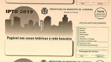 Carnês do IPTU começam a chegar na casa dos londrinenses na segunda semana de janeiro - Veja quanto a prefeitura pretende arrecadar no ano que vem e quantas pessoas têm o benefício da isenção.