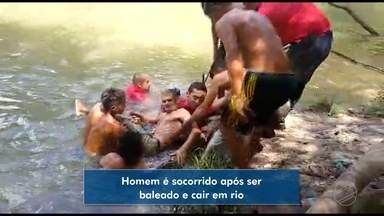Homem é baleado e cai em rio em Sorriso - Homem é baleado e cai em rio em Sorriso.