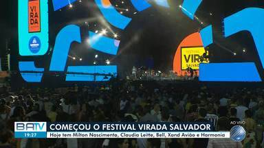 Festival Virada Salvador dá inicio aos festejos de fim de ano no bairro da Boca do Rio - Na primeira noite do dia acontecerá as apresentações do cantor Milton Nascimento, Claudia Leitte, Bell Marques, Xand Avião e Harmonia do Samba.