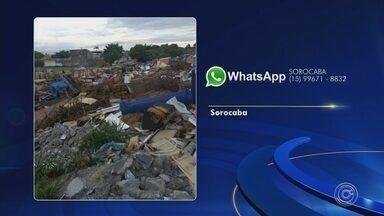 Moradores enviam reclamações para o WhatsApp da TV TEM - Moradores das regiões de Sorocaba e Jundiaí (SP) enviaram reclamações para o WhatsApp da TV TEM.