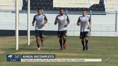 Elenco da Ponte Preta se reapresenta para temporada de 2019 - Gerson Magrão, ex-América-MG e Luís Ricardo, lateral que estava no Botafogo, são os destaques da Macaca na temporada. Os trabalhos físicos foram prioridade no primeiro dia de treino.