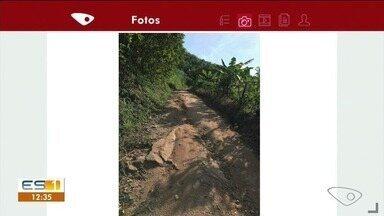 Motoristas correm perigo em estrada no interior de Iconha, ES - .