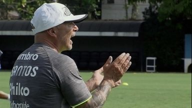 Santos volta aos treinos para a temporada 2019 - Técnico Jorge Sampaoli comanda a primeira atividade do Peixe no ano