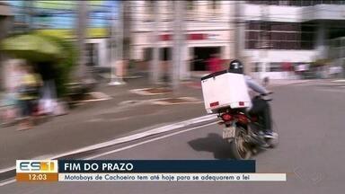 Lei para motoboys começa a ser cobrada em Cachoeiro, no Sul do ES - .