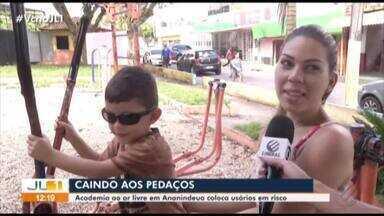 Moradores reclamam das falta de manutenção da 'Academia ao Ar Livre' em Ananindeua - Jornal Liberal