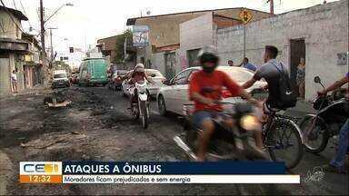 Ataques em Fortaleza: ônibus queimados e moradores sem energia elétrica - Confira outras notícias no g1.globo/ce